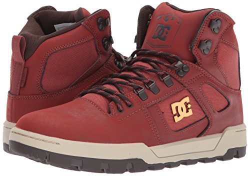 DC Men's Spartan High WR Ankle Boot, Burnt Henna/White, 12 D D US