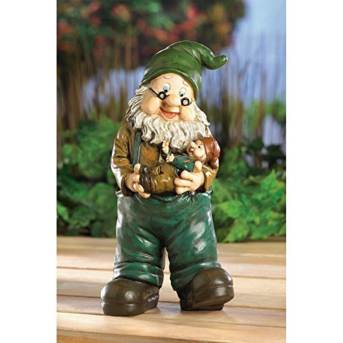 Grandpa Baby Garden Gnome Indoor Outdoor Home Lawn Patio Trees Decor -