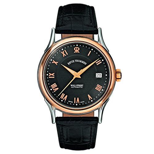Revue Thommen Men's 20002-2557 Wallstreet Tradition Analog Display Swiss Automatic Black Watch