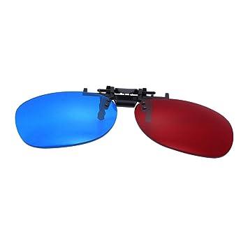 Healifty Rot Blau 3d Brille Clip Anaglyph Glaser Fur 3d Tv Kino
