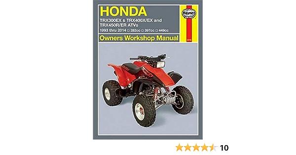 Honda TRX300EX, TRX400X/EX, TRX450R/ER ATVs 93 - 14 : 1993 ...