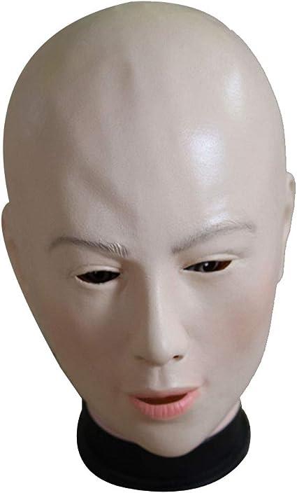Yisily Máscara de Halloween máscara de belleza calva látex Cosplay ...