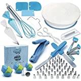 Cake Decorating Supplies Set 136 Pcs, Rotating Turntable, Measuring Spoons, Icing, Tools & For Birthdays,Cookies,Piping…