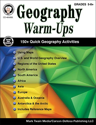 Carson-Dellosa Geography Warm-Ups Resource Book, Grades 5-8+