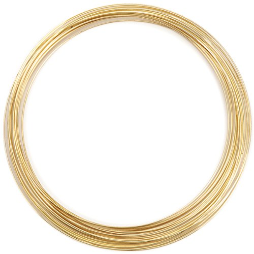 Beadalon Gold Plated Memory Wire Necklace (.50 Ounces Per Package) - Approximately 18 Loops