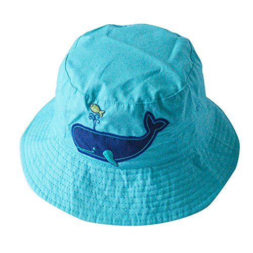 toubaby-kid-boys-dolphin-sun-hats-boys-reversible-hat-cotton-blue-0-6t-1-2years-old
