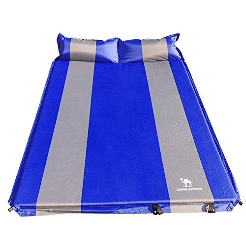 Camel Self Inflating Sleeping Pad Lightweight Foam Padding Great Hiking & Camping Thick Outer Skin Backpacking Double by Camel