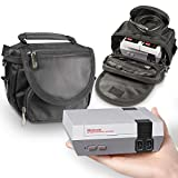 nes console new - Orzly Travel & Storage Bag for Nintendo NES Classic Edition (New 2016 Model Mini Version of NES Console) - Fits Console + Cable + 2 Controllers - Includes Shoulder Strap + Carry Handle - BLACK