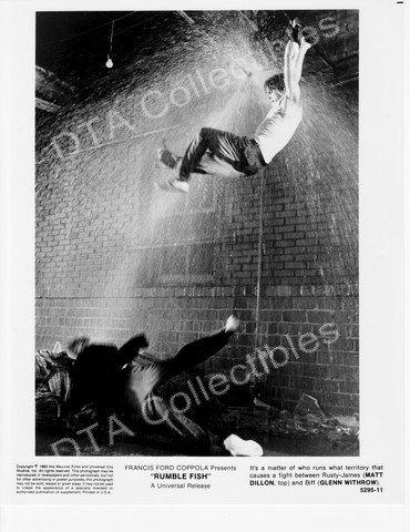 RUMBLE FISH-1983-MATT DILLON- GLENN WITHROW-8x10 STILL FN