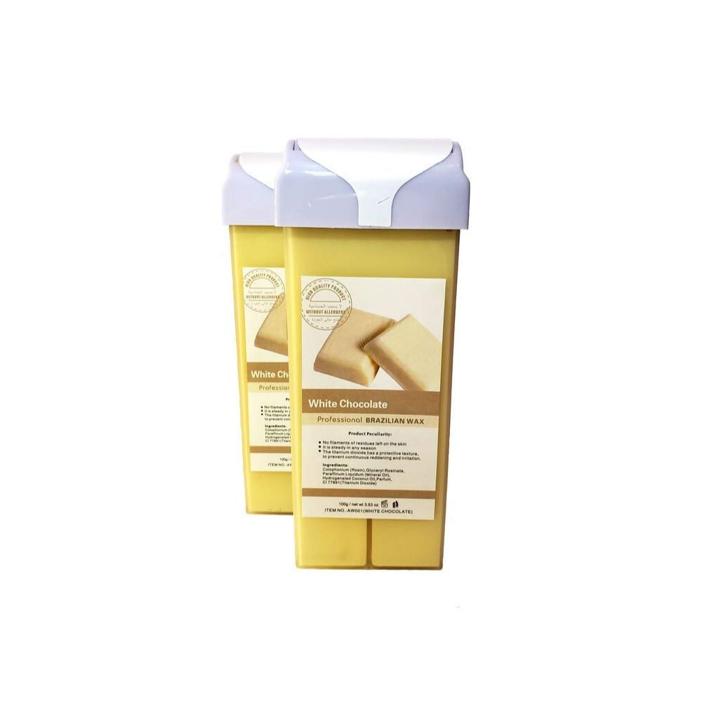 100g x 2 NorthMe Original Formula Roll-on Wax Cartridge Refill For Hair removal- Depilatory rollon- Hot Wax Cartridge Roll On- Unwanted Hair Using A Hot Wax Roller- 3.53 OZ (White Chocolate)