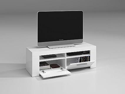 SERMAHOME- Mueble de Comedor y Salón Bajo TV Modelo Simply. Color Blanco Brillo. Medidas: 120 cm Ancho x 40 cm Alto x 42 cm Fondo.: Amazon.es: Hogar