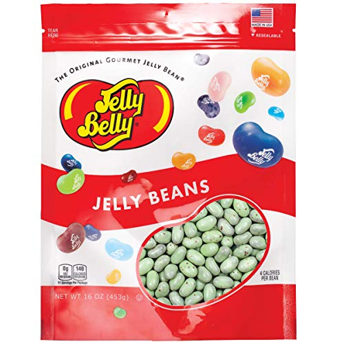 Jelly Belly Mint Mint Chocolate Chocolate Chip Cold Stone Jelly Beans - 1 Pound (16 Ounces) Resealable Bag - Genuine, Official, Straight from the Source