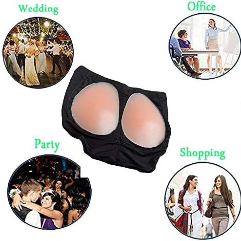 RosinKing Silicone Butt Pads Buttock Enhancer Underwear Silicone Padded Panties for Women