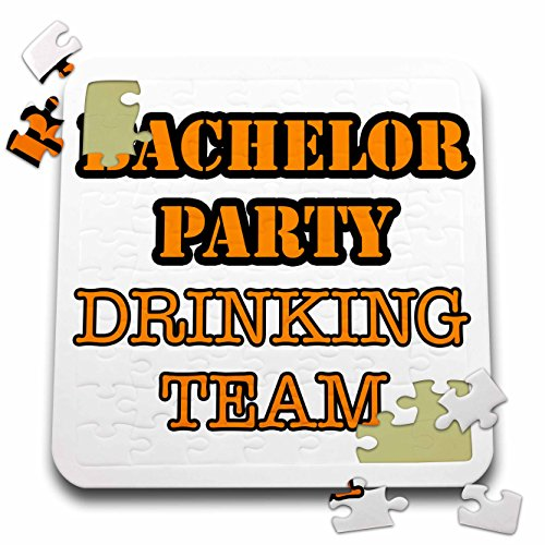 Stag,Bachelor Party - Bachelor Party Drinking Team Orange - 10x10 Inch Puzzle (pzl_261068_2) by 3dRose