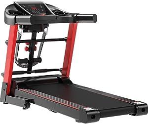 CffdoiPBJI Folding Ttreadmill, Foldable Household Treadmill, Multifunctional High Horsepower Walking Machine, Weight Loss Fitness Equipment