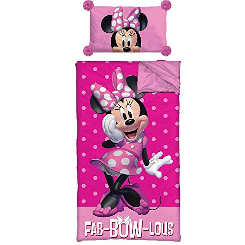 - Disney Minnie Mouse Girls Sleeping Bag and Pillow Slumber Set
