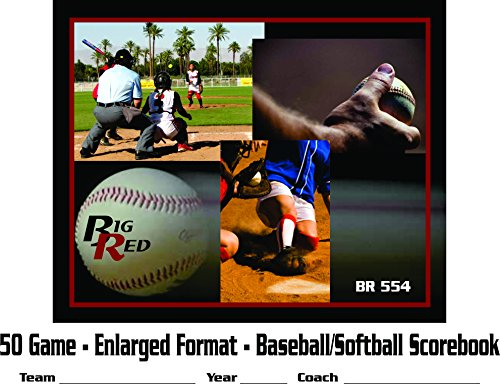 Big Red Scorebook 12 Player - Enlarged Detailed