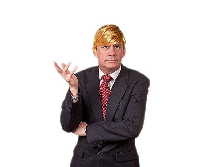 Amazon.com  Funny Donald Trump Wig for Halloween – Special President ... a593e7f85