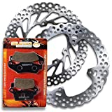 Sumo - Honda Front + Rear Brake Disc Rotor + Pads for CR125 R (1998-2001) CR250 R (1997-2001) Motorcycle
