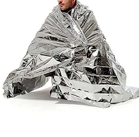 Outdoor Emergency Survival Warm Blanket Foldable Moistureproof Waterproof Heat Reflective Rescue Mylar Thermal Blanket for First Aid Kits, Sports, Natural Disasters Equipment, Camping 83