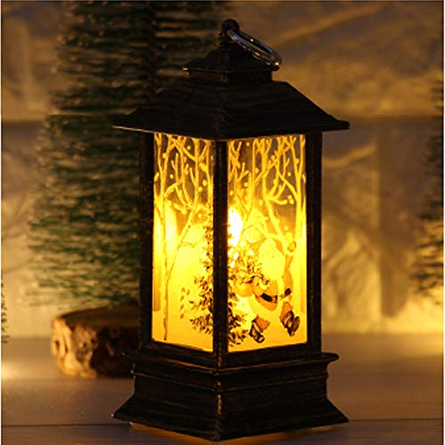 Simulated Flame Light Oil Lamp,Halloween Candle with LED