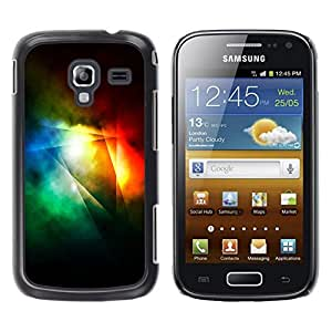 LECELL--Funda protectora / Cubierta / Piel For Samsung Galaxy Ace 2 I8160 Ace II X S7560M -- Dark Light Rainbow Color Lines Abstract --