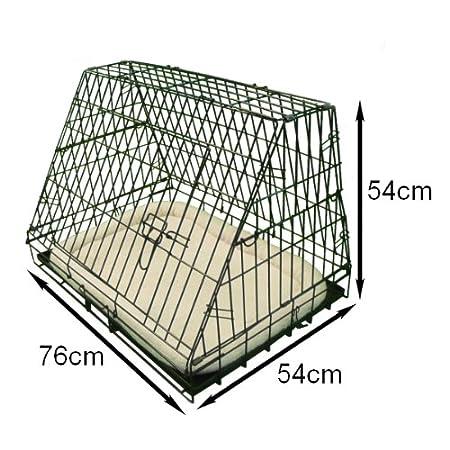 il nero media Ellie-Bo Crate Deluxe inclinato cucciolo gabbia pieghevole cane con non-Chew metallo vassoio in pile e Slant anteriore per auto da 30 pollici