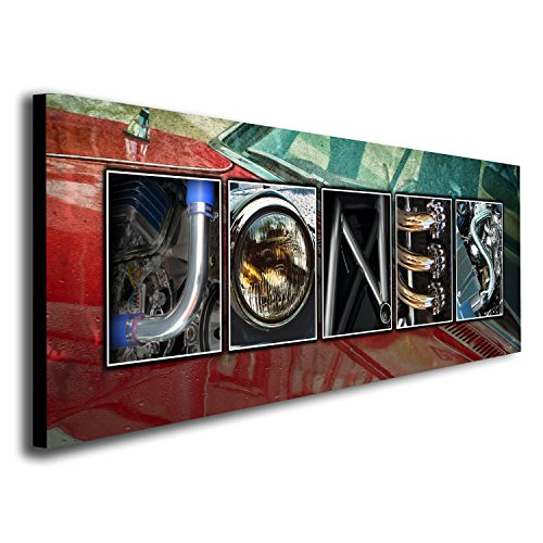 Personalized Automobile Cars Mechanic Name Art (6.5
