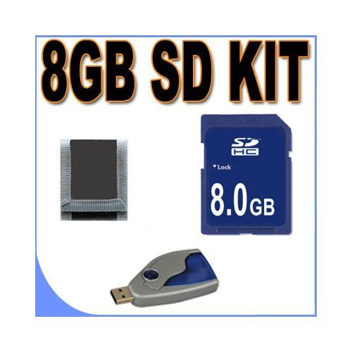 (8GB SD/HC Memory Card Secure Digital BigVALUEInc Accessory Saver Bundle for Canon Cameras)