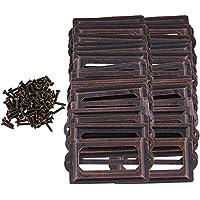 Yibuy 100piece Metal Label Holder Label Fram Card Holder 70x33mm