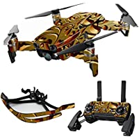 MightySkins Skin for DJI Mavic Air Drone - Mosaic Gold | Max Combo Protective, Durable, and Unique Vinyl Decal wrap cover | Easy To Apply, Remove, and Change Styles | Made in the USA