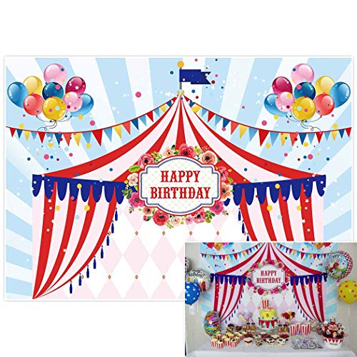 Allenjoy 7x5ft photography backdrop background balloon Circus Tents stratus Playground carnival Carousel kids birthday party banner photo studio booth photocall