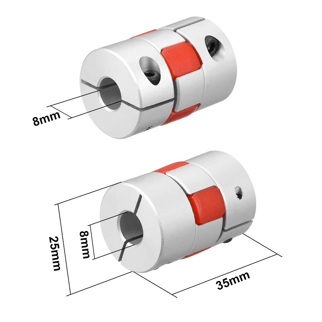Sourcingmap Acoplador flexible para motor paso a paso Servo