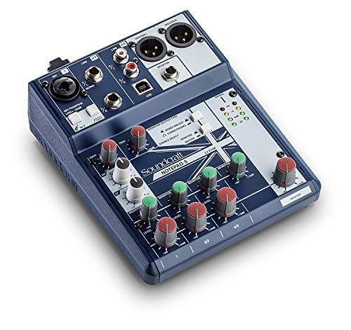 Soundcraft Notepad-5 Small-Format Analog Mixing Console with USB I/O, 5-channel mixer (Notepad-5) ()