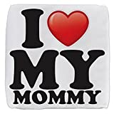 18 Inch 6-Sided Cube Ottoman I Love My Mommy Mom Mother Heart