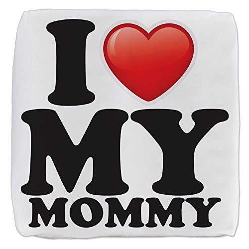 18 Inch 6-Sided Cube Ottoman I Love My Mommy Mom Mother Heart by Royal Lion