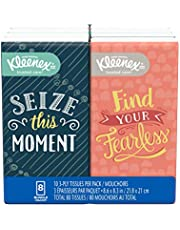 Kleenex Go Packs Facial Tissues, Travel Size, 8 Pack, 10 Tissues per Pack (80 Tissues Total)