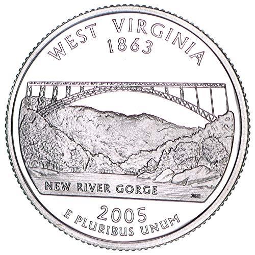 2005 S State Quarter West Virginia 90% Silver Gem Deep Cameo Proof