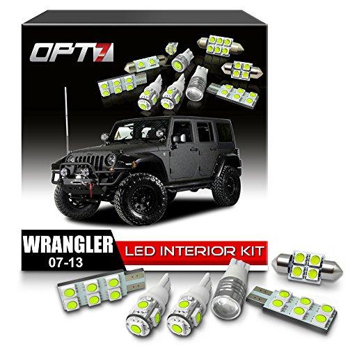 OPT7 Interior JK Jeep Wrangler White LED Replacement Light Bulbs Set