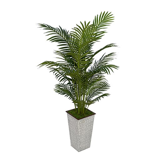 Artificial 5ft Areca Palm in Designer Metal by House of Silk Flowers