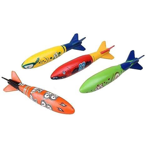 Isuper Juguetes Submarinos de Buceo,Torpedo Bandits Piscina Buceo de Plástico Juego de Verano Juego