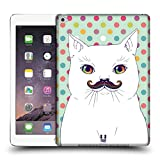 Head Case Designs Cat Rainbow Moustache Protective Snap-on Hard Back Case Cover for Apple iPad Air 2