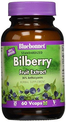 BlueBonnet Bilberry Fruit Extract Supplement, 60 (Bilberry Fruit)