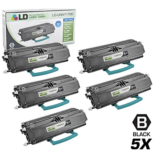 LD Remanufactured Toner Cartridge Replacement for Lexmark 12A8400 High Yield (Black, 5-Pack)