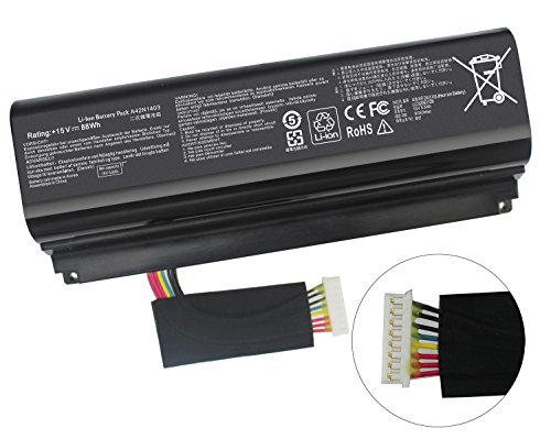Gomarty New A42N1403 Battery for ASUS ROG GFX71JY 17.3'' GFX71JY4710 G751 G751J G751JT G751JY G751JL G751JM GFX71JY GFX71JY4710 GFX71JY4710 G751J-BHI7T25 G751JL-BSI7T28 A42LM93 0B110-00290000 4ICR19/66 by Gomarty