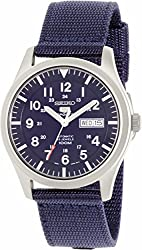 Seiko 5 Sport Automatic Navy Blue Canvas Mens Watch SNZG11