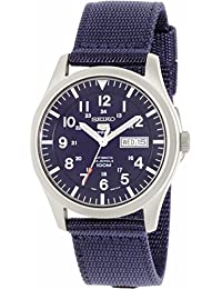 Seiko Men's 5 Automatic SNZG11K Navy Nylon Automatic Watch