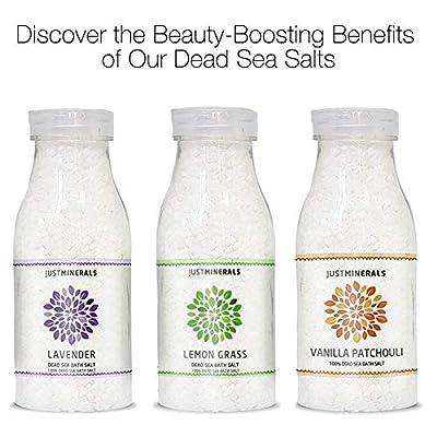 Dead Sea Bath Salt Vanilla Patchouli - Just Minerals Certified 100% Pure from the Dead Sea