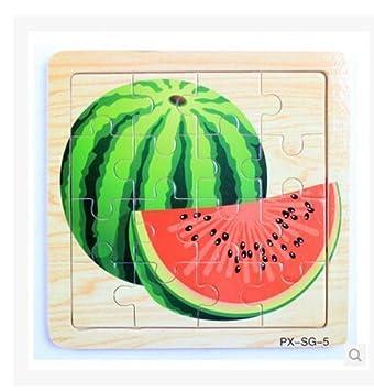 Amazon.com: HSE infantil frutas Puzzle tridimensional ...