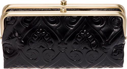 Hobo Womens Lauren Vintage Wallet Clutch Purse (Embossed Black) by HOBO